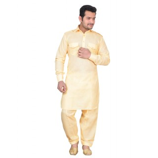 Pathani suit in Beige color