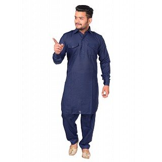 Pathani dress for men- Navy Blue
