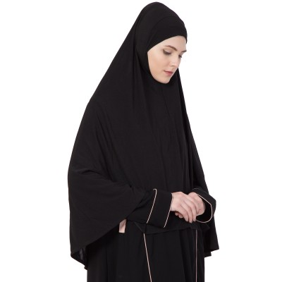 Black - Khimer | Long Hijab | Prayer Hijab