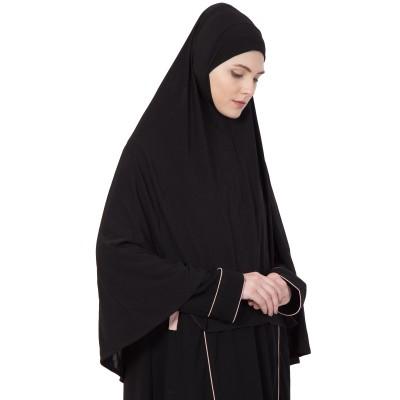 Black - Khimer | Long Hijab | Prayer Hijab