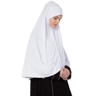 White- Khimer | Long Hijab | Prayer Hijab