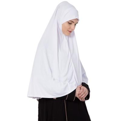 White- Khimer | Long Hijab | Prayer Hijab