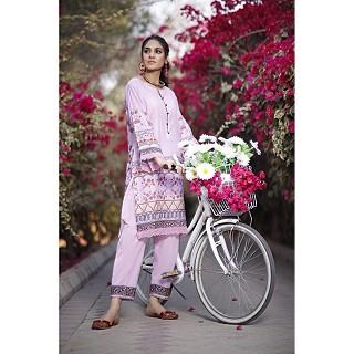 Raushan Light Blush Unstitched Cotton Lawn Suits