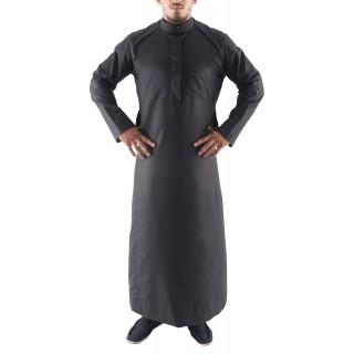 Jubbah- Black Simple Saudi