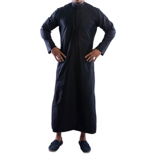Jubbah- Black Simple Saudi