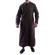 Jubbah- Brown Simple Saudi