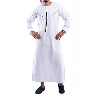 Jubbah- Madina Emirati White