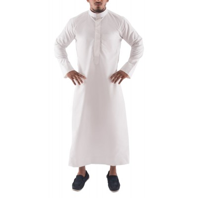 Jubbah- Off White Simple Saudi