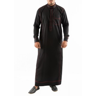 Jubbah- Red Anchored Simple Saudi