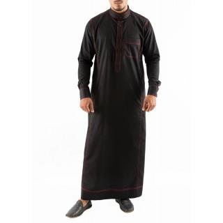 Jubbah- Red Anchored Simple Saudi