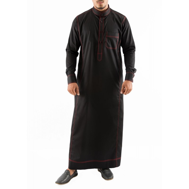 Jubbah Online Red Anchored Simple Saudi Thobe Online In