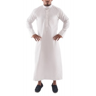 Jubbah- White Simple Saudi