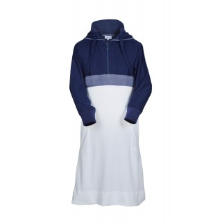Jubbah for Kids & Boy's - Dry Fitter Navy Blue And White