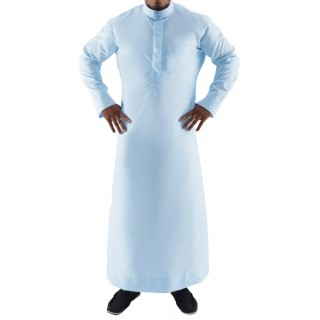 Thobe- Sky Blue Simple Saudi