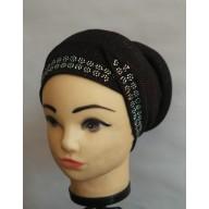 Designer Bonnet Cap  - Black
