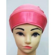 Glitter Bonnet Cap- Coral Pink