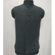 Woolen Waistcoat for Men- Black