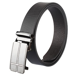Mens Genuine Leather Belts - BLACK
