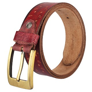 Mens Genuine Leather with golden Pin buckle Belts- Maroon