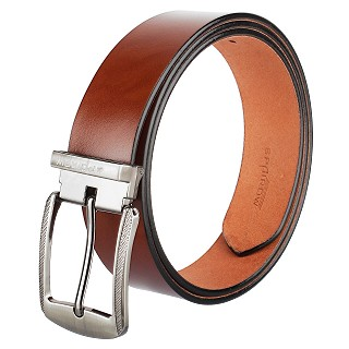 Men's Genuine Leather Belts Buckle- Brown