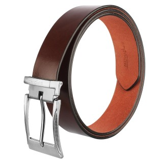 Men's Genuine Leather Belt |Pin buckle | Brown