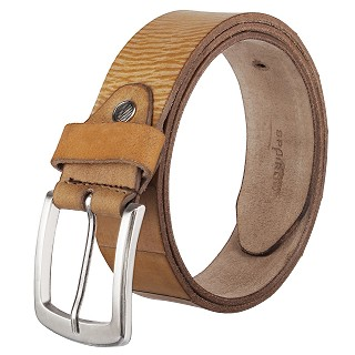 Genuine Leather Belt For Men- Brown | Pin buckle