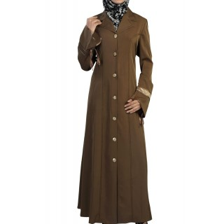 Irani Full Coat in Brown Color