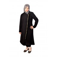 Irani Monto Coat - Trio pattern with zipper in Black Colored