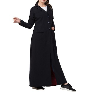 Full length Coat for Women- Black