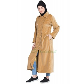 Women's Velvet coat- Beige color