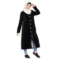 Women's Velvet coat- Black color