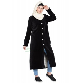 Women's Velvet coat- Black color