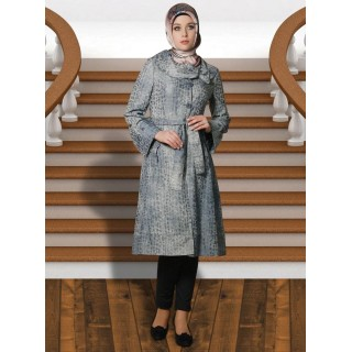 Irani Manto/Coat in Gunsmoke color
