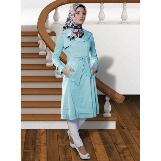 Irani Manto/Coat in Sky blue color