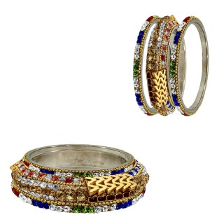 Unique Set Of 6 Metal Bangles With Kada Set Of Women