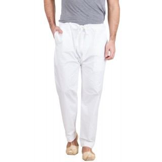 Pajama for men White colored in Cotton Pant Style