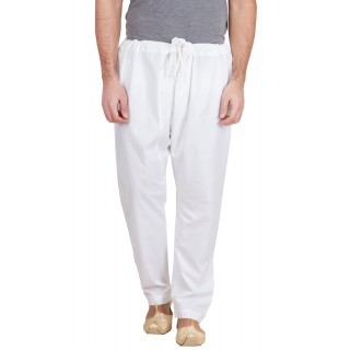 Cotton pajama for men- Solid white