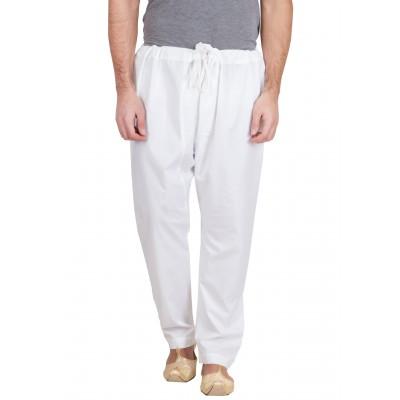 Cotton pajama for men- Solid white