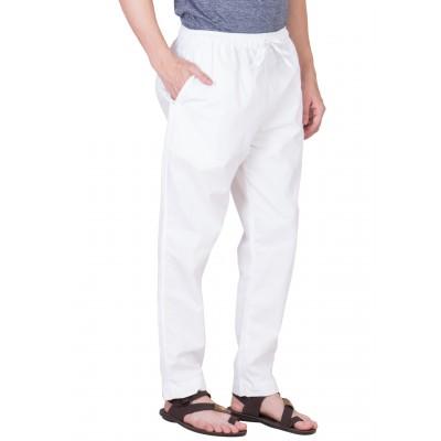 Pant Cut cotton Pyjama- Plain White