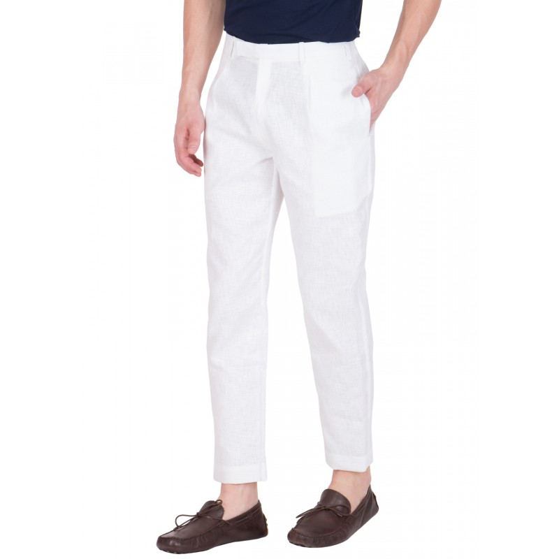 6a259bf4bd1 White trouser for men - Cotton Fabric